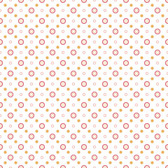 Summer seamless Polka dot background - vector geometric pattern