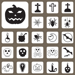 Vector Illustration, Halloween Icon for Design and Creative Work