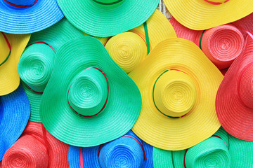 Colorful hats background
