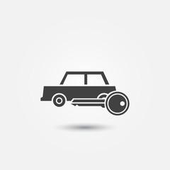 Car rental icon - vector symbol