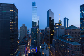 New York Skyline am Abend
