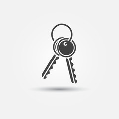Vector keys icon - simple key symbol