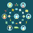Collaborative Consumption Concept Illustration
