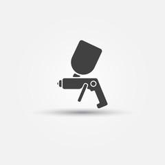 Airbrush car paint symbol - spray gun icon