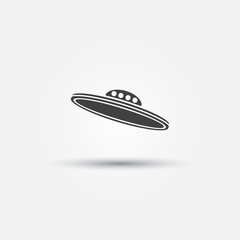 Vector black UFO icon