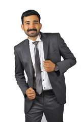 Businessman on White