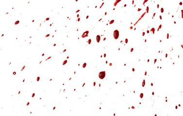 Blood drip on white