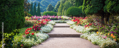Foto op Canvas Bloemenwinkel Flower Garden