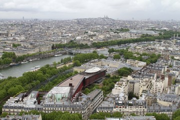 Panoramic view from Eiffel Tower, Paris