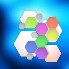 Modern Hexagon on abstract  background