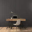 The stylish interior of home office