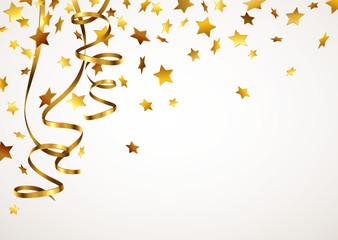 Goldene Sterne mit Goldbändern