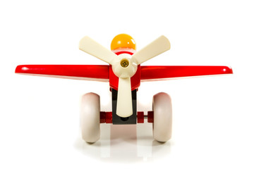 Toy wooden airplane propeller
