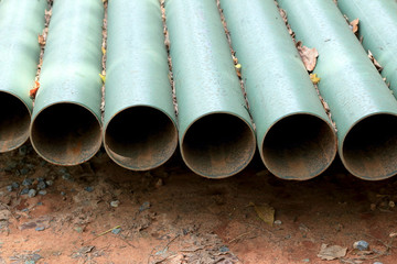 Old metal pipes - for construction.