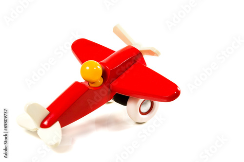 Toy wooden airplane - 69809737