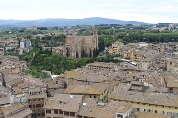 Panoramic view from Siena