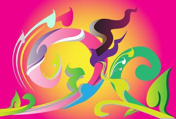 abstract art thai