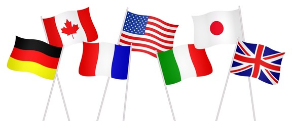 Drapeaux des pays membres du G7