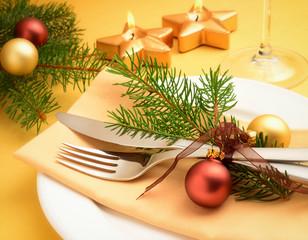 festliches Weihnachtsgedeck