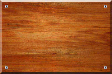 Geschraubtes Holzschild