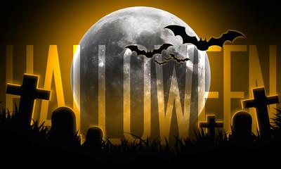 Notte di Halloween con scritta
