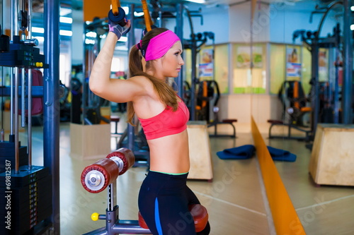 canvas print picture woman fitness