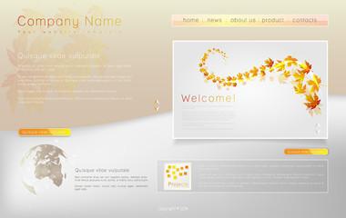 Corporate Website template. Creative web Multifunctional Media d