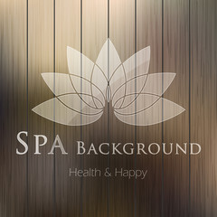 Spa background. Vector illustration.