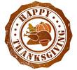 happy thanksgiving stamp