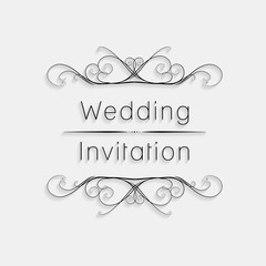 Wedding Vintage Invitation