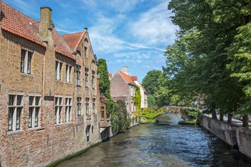 Bruges - Look from Steenhouwersdijk street to canal