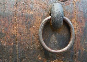 Iron door ring