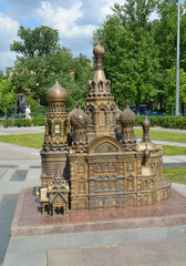 The model of Church of the Savior on Blood in St. Petersburg