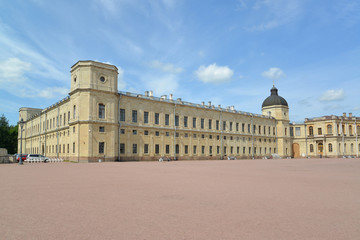 Fragment of a facade of the Big Gatchina palace