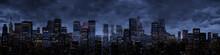 "Постер, картина, фотообои ""Night city panorama"""