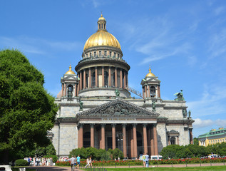 St. Petersburg. St. Isaac's Cathedral in summer day