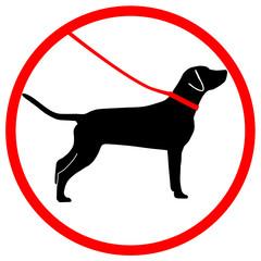 Gebotsschild Hund Leine