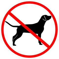 Verbotsschild Hund