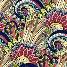 Motif floral transparente (vecteur). Hand Drawn Texture avec la fleur