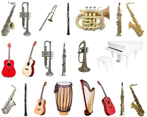 harp and other musical instruments