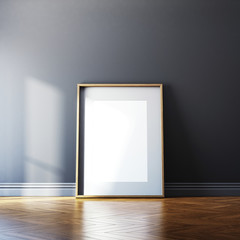 Blank picture frame and sunlight