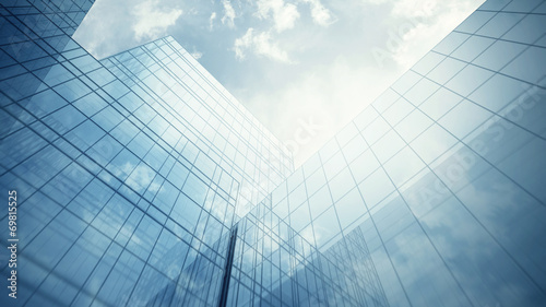 Leinwanddruck Bild Skyscraper's exterior