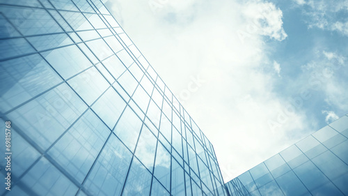 Glass wall of skyscraper - 69815768