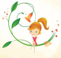 Fairy on the flower