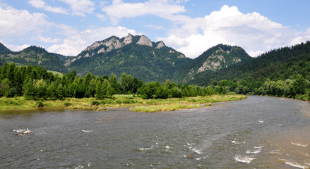 Pieniny national park in the summer, Slovakia, Europe