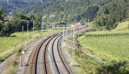railway through the mountain