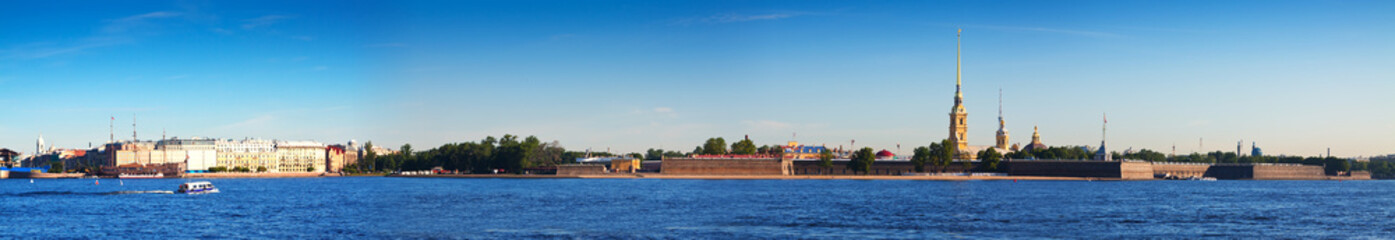 View of St. Petersburg. Peter and Paul Fortress