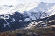 canvas print picture - Erster Schnee in den Alpen