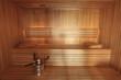 Sauna fińska, wnętrze.