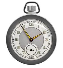 Pocket watch on white background
